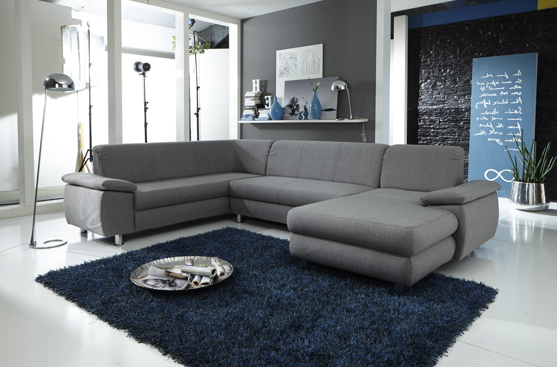 wohnlandschaft u form mexico wohnlandschaften sofas couches wohnzimmer m. Black Bedroom Furniture Sets. Home Design Ideas