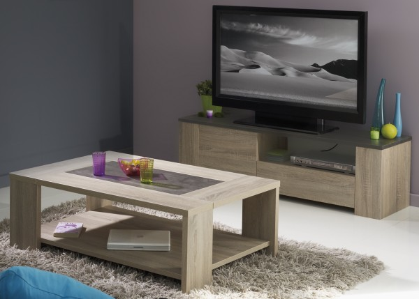 Parisot TV-Lowboard & Couchtisch Fumay