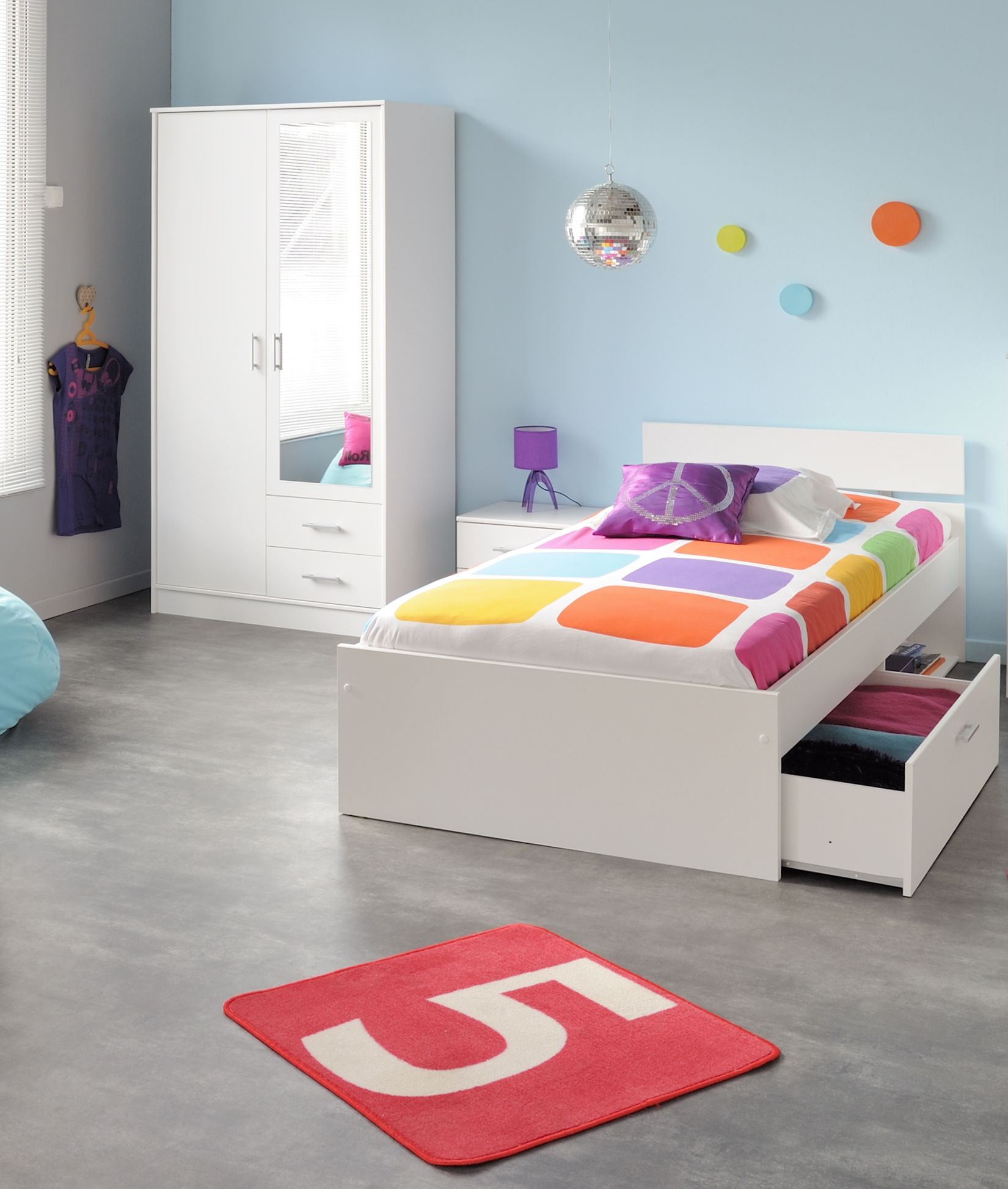 3 teiliges kinderzimmer set infinity 154 von parisot komplett set s kinderzimmer. Black Bedroom Furniture Sets. Home Design Ideas