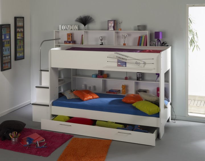 kinder doppelbett hochbett etagenbett bipop von parisot kinderbetten kinderzimmer. Black Bedroom Furniture Sets. Home Design Ideas